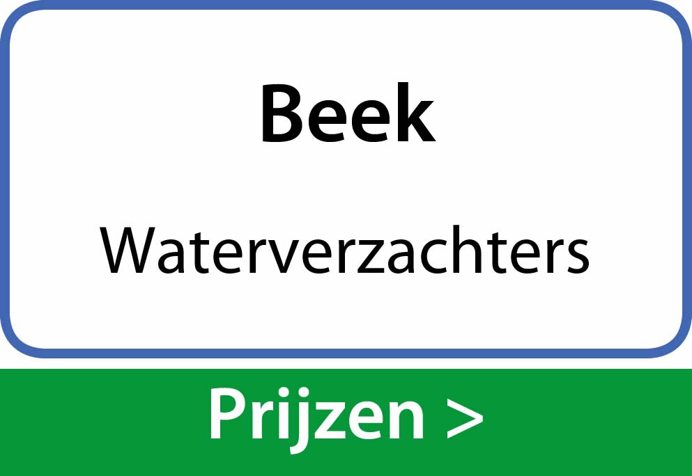 waterverzachters Beek