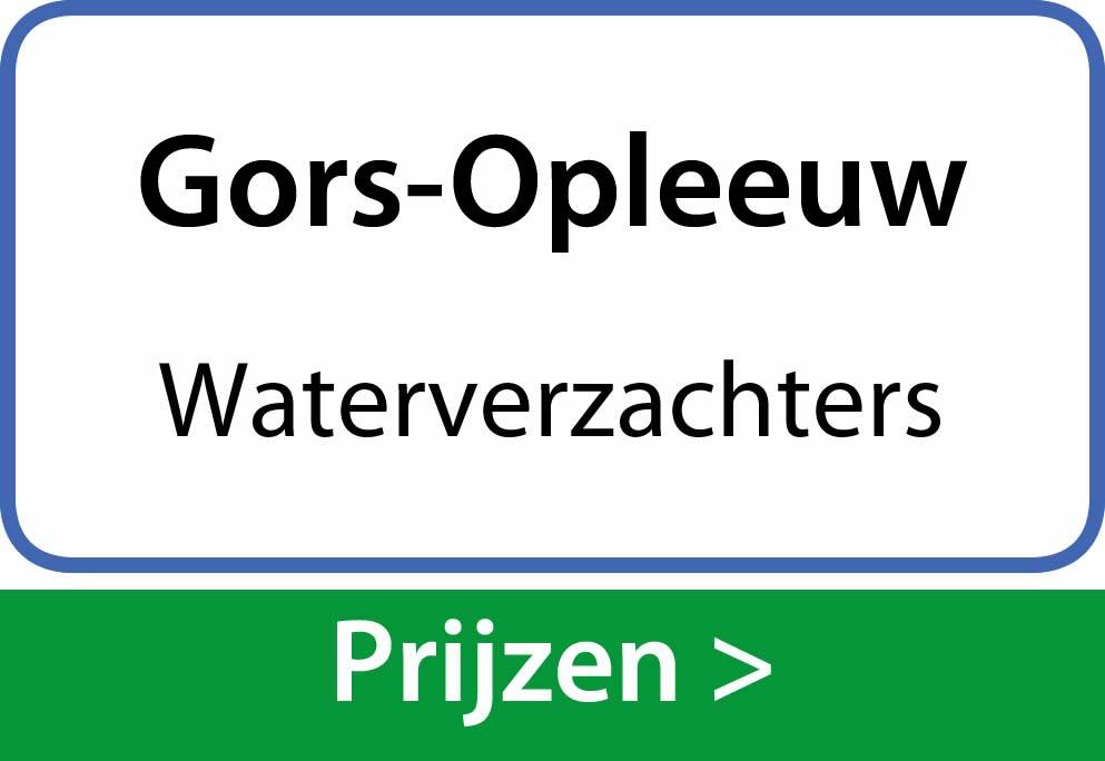 waterverzachters Gors-Opleeuw