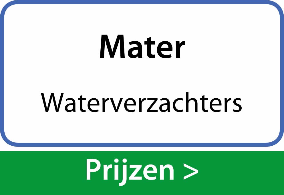 waterverzachters Mater