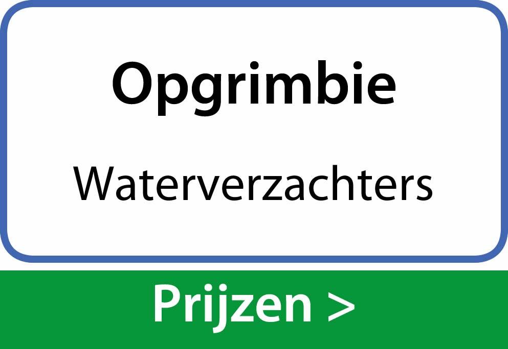 waterverzachters Opgrimbie