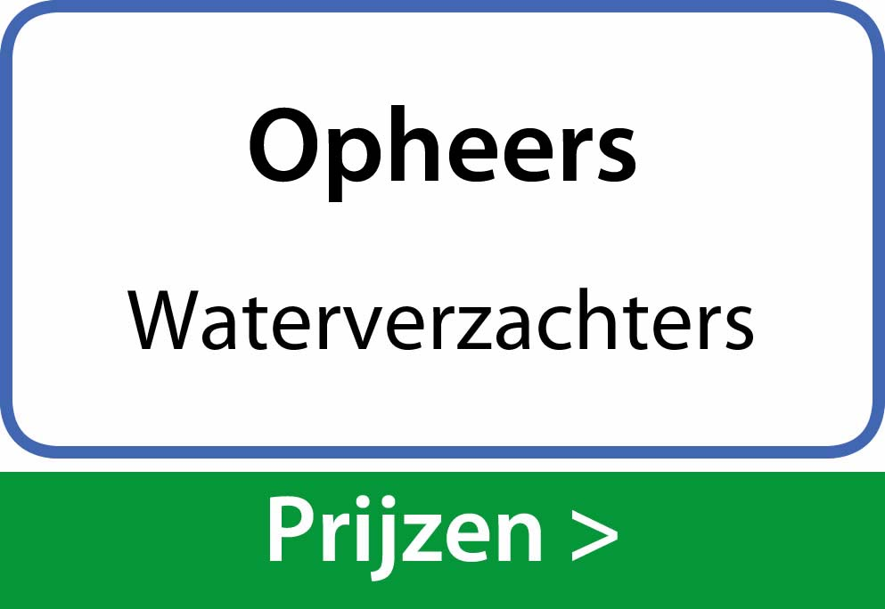 waterverzachters Opheers