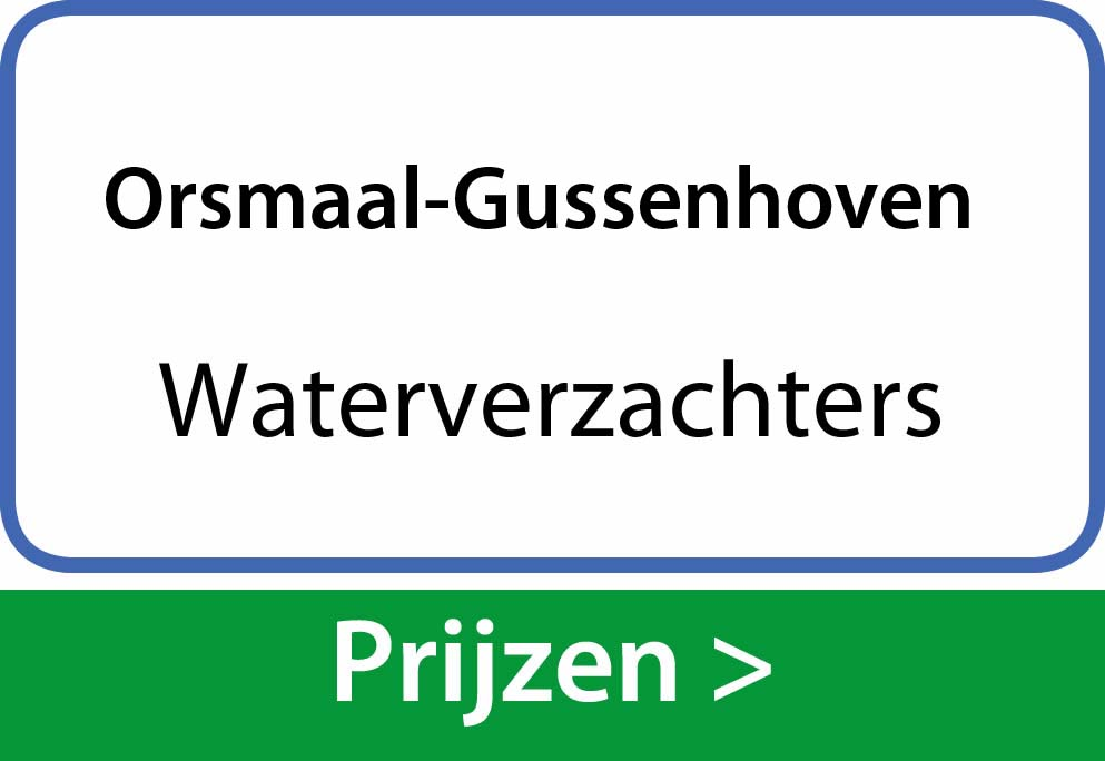 waterverzachters Orsmaal-Gussenhoven