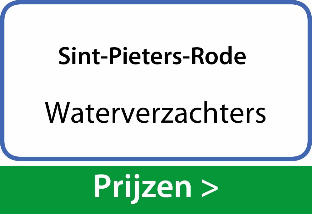 waterverzachters Sint-Pieters-Rode